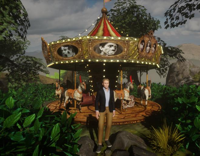 Agustine's Horse Carousel in Ryan's Garden 2 Sansar 26 July 2017