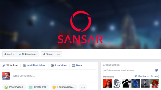 Sansar Facebook Group 3 August 2017