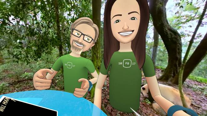 Dema Fairport and Ryan Schultz in Facebook Spaces 22 April 2017