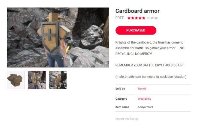 Cardboard Warrior 2 4 Nov 2017