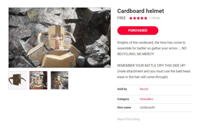 Cardboard Warrior 3 4 Nov 2017