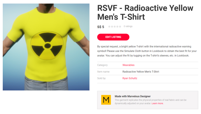 Listing for Radioactive Yellow Men's T-Shirt 30 Dec 2017.png