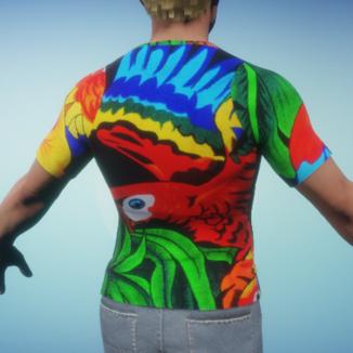 Parrot T-Shirt Back