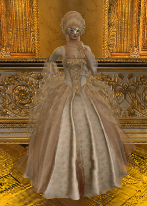 Vanity Fair in Le Carnivale Baroque Gown by SIlvan Moon Designs 20 Apr 2018